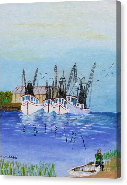 Carolina Shrimpers Canvas Print