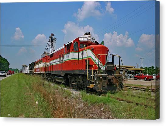 Atlantic Division Canvas Print - Carolina Southern Railroad In Conway by Joseph C Hinson Photography