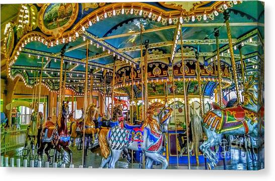 Carousel At Peddlers Village Canvas Print