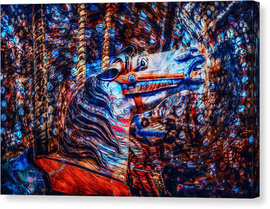 Canvas Print featuring the photograph Carousel Dream by Michael Arend