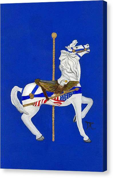 Carousel Horse #1 Canvas Print