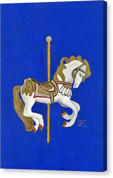 Carousel Horse #3 Canvas Print