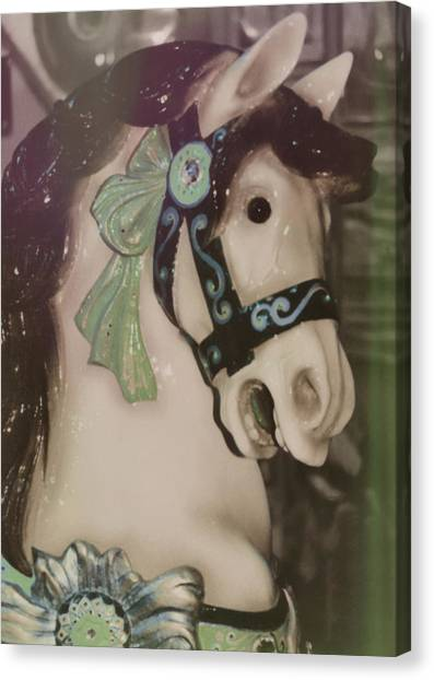 Carousel Horse Canvas Print by JAMART Photography