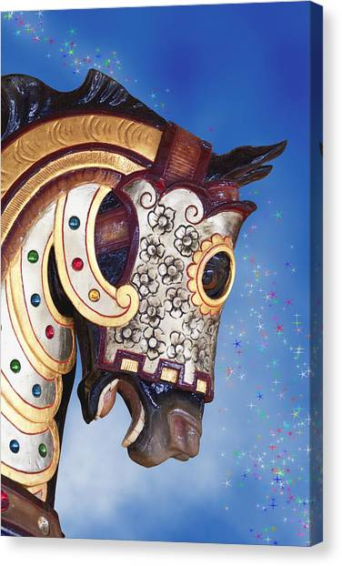 Mardi Gras Canvas Print - Carousel Horse by Tom Mc Nemar