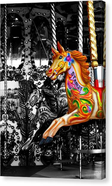 Carousel In Isolation Canvas Print