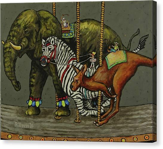 Canvas Print - Carousel Kids 6 by Rich Travis