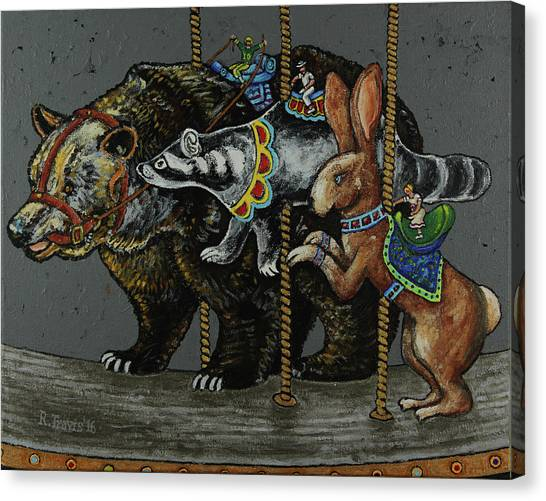 Canvas Print - Carousel Kids 4 by Rich Travis