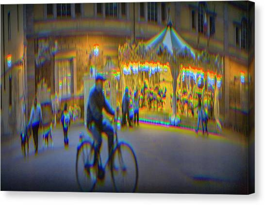 Canvas Print - Carousel Lucca Italy by Ron Morecraft