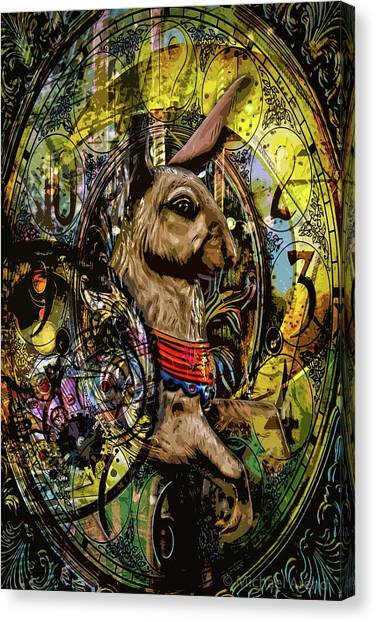 Canvas Print featuring the photograph Carousel Rabbit by Michael Arend