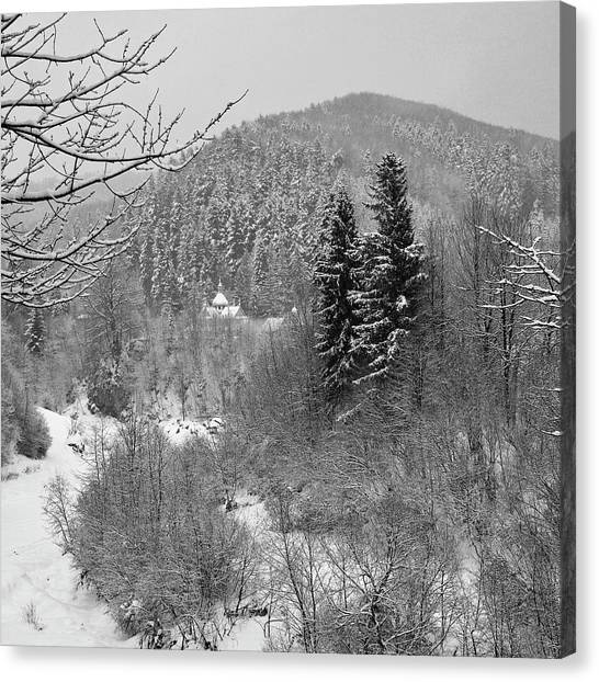 Carpathian Winter. Sheshory, 2010. Canvas Print