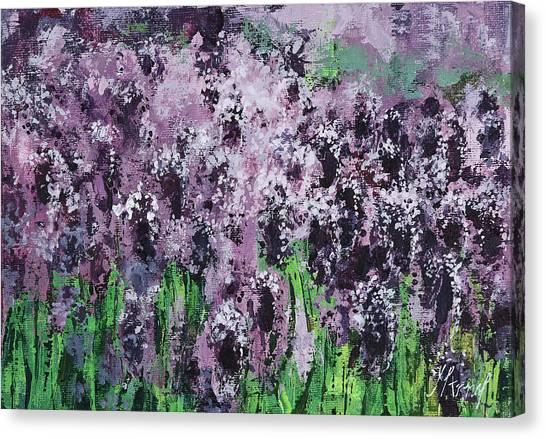 Carpet Of Lavender Canvas Print