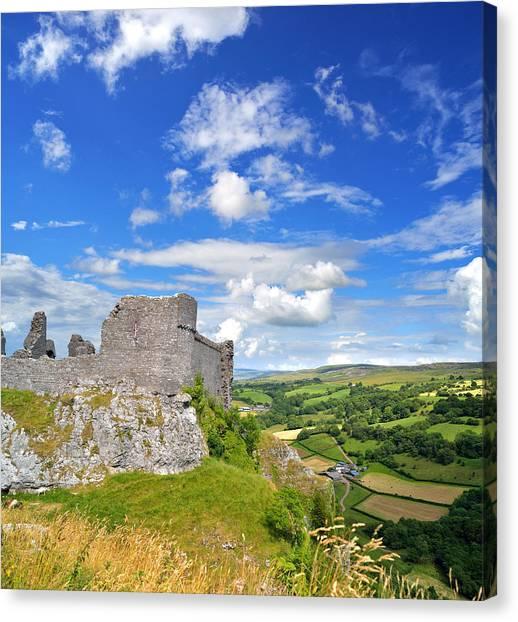 Carreg Cennen Castle 1 Canvas Print
