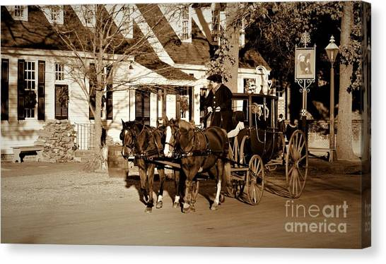 Canvas Print featuring the photograph Carriage Ride by Patti Whitten