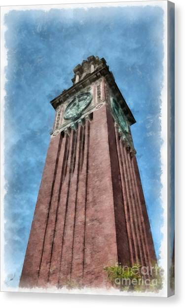 Brown University Canvas Print - Carrie Clock Tower Brown University Providence Ri by Edward Fielding