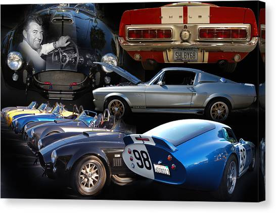 Daytona 500 Canvas Print - Carroll Shelby Tribute by Bill Dutting