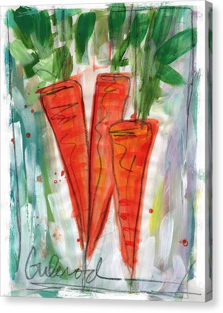 Vegetarian Canvas Print - Carrots by Linda Woods