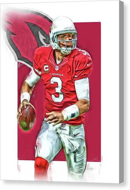 Arizona Cardinals Canvas Print - Carson Palmer Arizona Cardinals Oil Art by Joe Hamilton