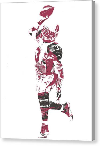 Arizona Cardinals Canvas Print - Carson Palmer Arizona Cardinals Pixel Art 5 by Joe Hamilton