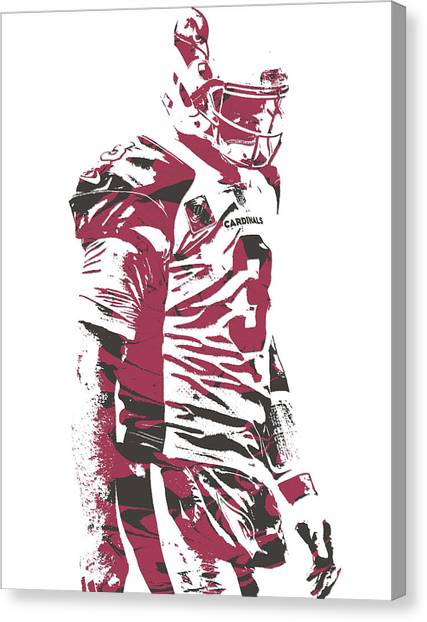 Arizona Cardinals Canvas Print - Carson Palmer Arizona Cardinals Pixel Art 6 by Joe Hamilton