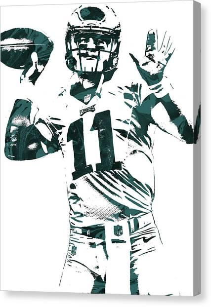 Philadelphia Eagles Canvas Print - Carson Wentz Philadelphia Eagles Pixel Art by Joe Hamilton