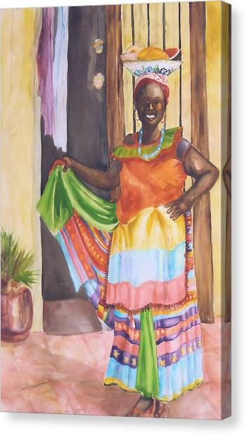 Cartegena Woman Canvas Print