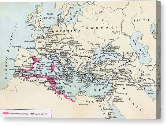 Influence Canvas Print - Carthaginian Colonies And Area Of by Vintage Design Pics