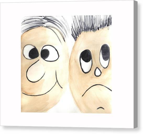 Cartoon Faces Canvas Print by Hema Rana