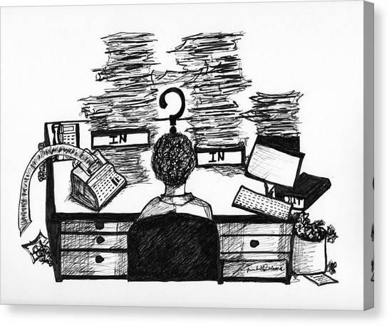 Cartoon I Dare You Canvas Print