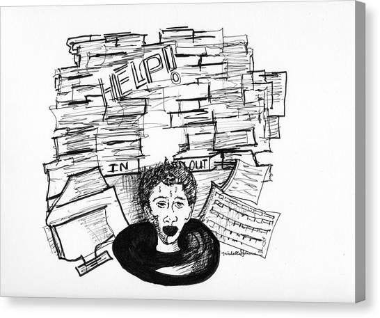 Cartoon Inbox Canvas Print