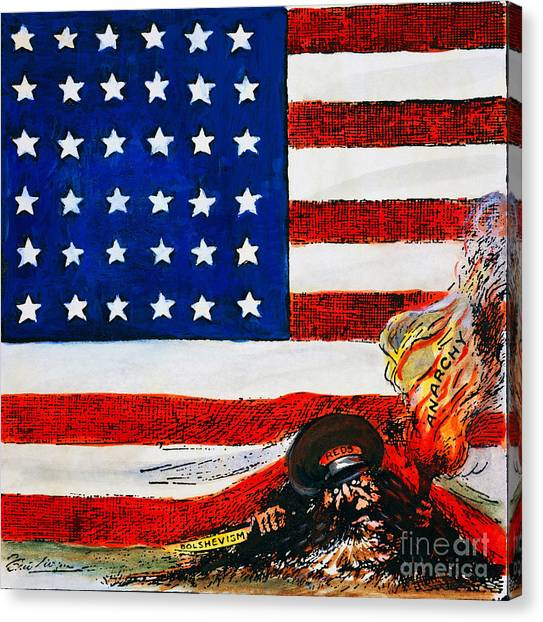Artcom Canvas Print - Cartoon: Red Scare, 1919 by Granger