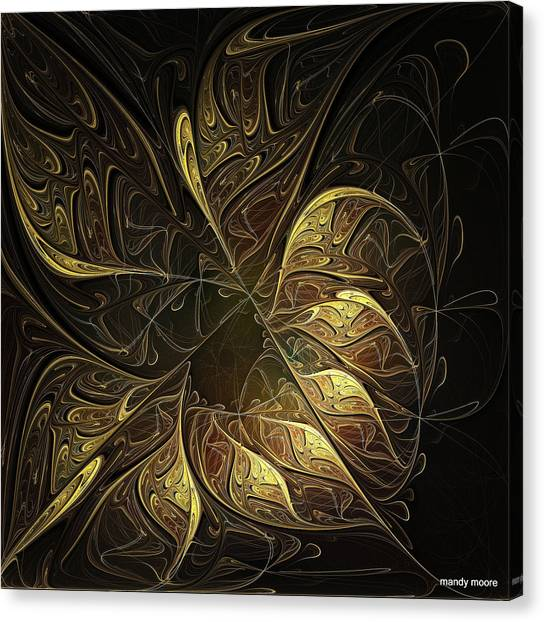 Apophysis Canvas Print - Carved In Gold by Amanda Moore