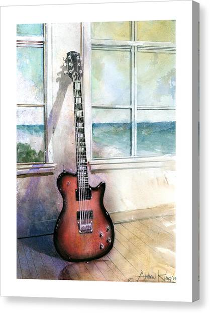 Electric Guitars Canvas Print - Carvin Electric Guitar by Andrew King