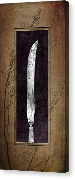 Utensil Canvas Print - Carving Set Knife Triptych 2 by Tom Mc Nemar