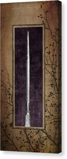 Utensil Canvas Print - Carving Set Sharpener Triptych 3 by Tom Mc Nemar
