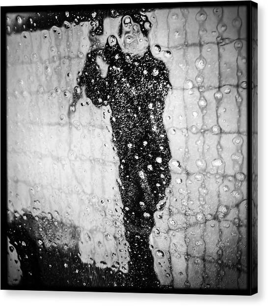 Wet Canvas Print - Carwash Cool Black And White Abstract by Matthias Hauser