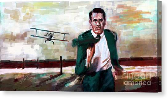 Cary Grant North By Northwest Crop Duster Canvas Print