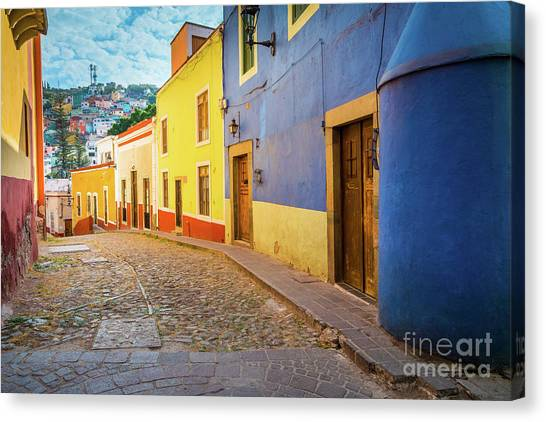 Guanajuato Canvas Print - Casa Azul by Inge Johnsson