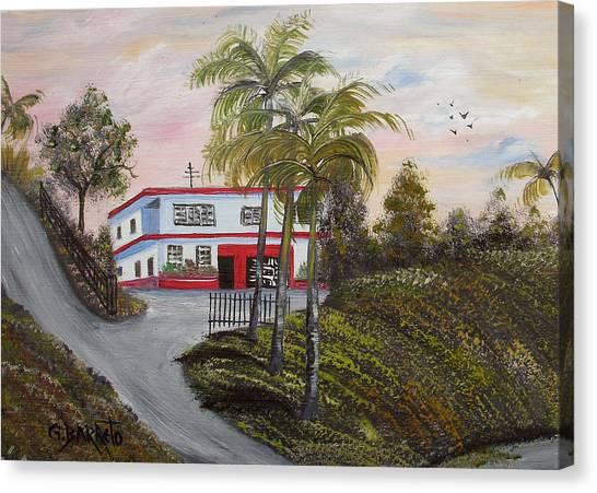 Casa En Montanas De Cerro Gordo Canvas Print