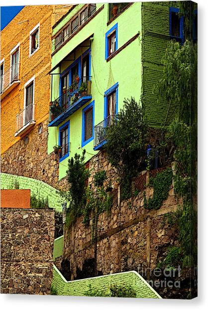 Casa Lima On The Hill Canvas Print by Mexicolors Art Photography