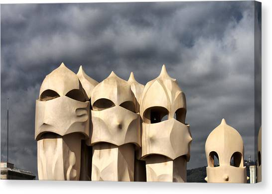 Casa Mila Masks Canvas Print
