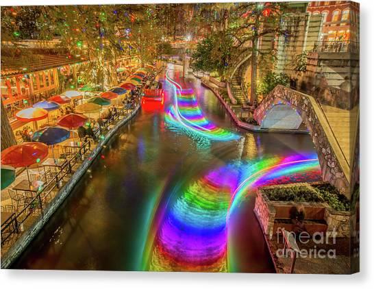 Casa Rio Rainbow Canvas Print