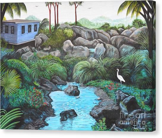 Casa Tropical Canvas Print by Juan Gonzalez