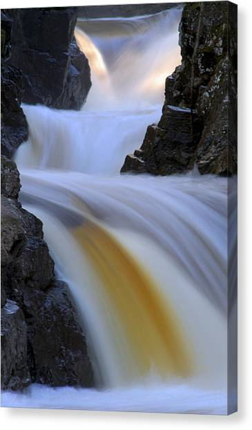 Cascade At Dawn Canvas Print