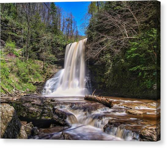 Cascade Falls In Spring Canvas Print