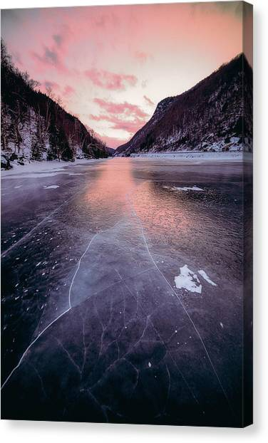 Cascade Ice Canvas Print