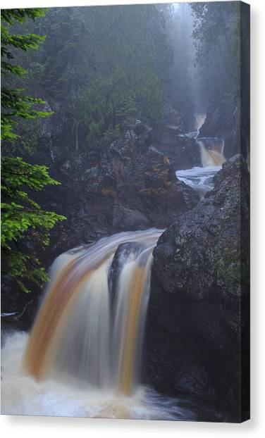 Cascade River Cascade Canvas Print