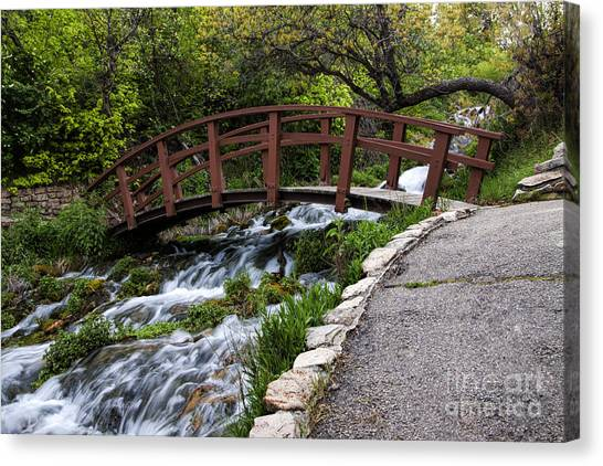 Cascade Springs Bridge Canvas Print