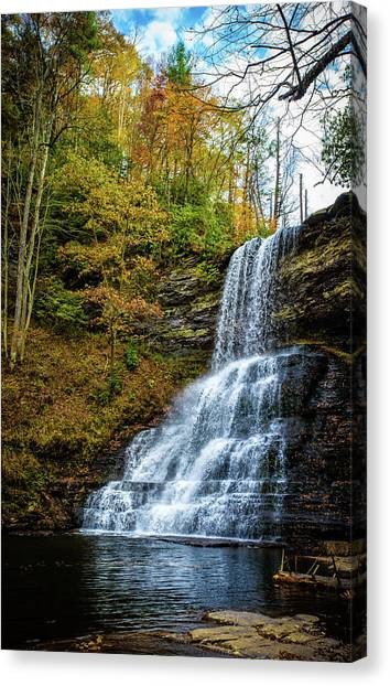 Cascades Lower Falls Canvas Print