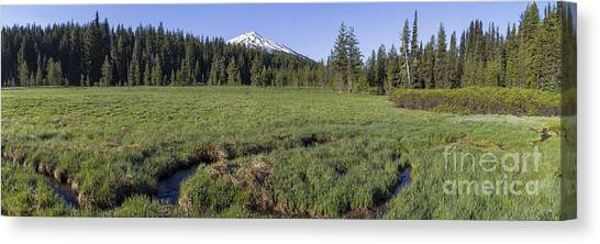 Bachelor Canvas Print - Cascades Meadow Panorama by Twenty Two North Photography