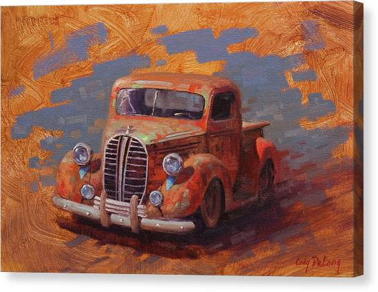 Ford Truck Canvas Print - Cascading Color by Cody DeLong